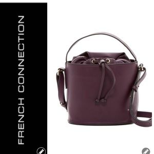 NWT French Connection Plum Bucket Bag